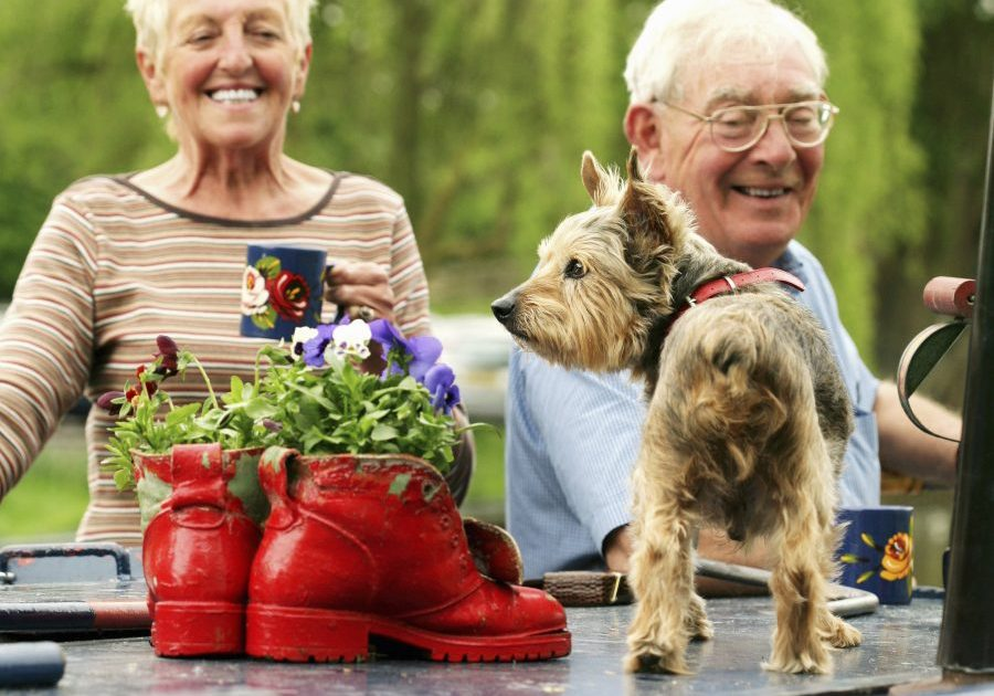 Senior Couple & Pet Dog